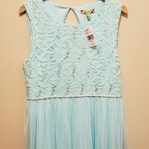 Speechless 20 Sequin Blue Sparkly Dress
